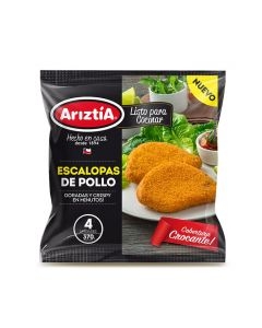 Escalopa de pollo 4 unidades 470 gr